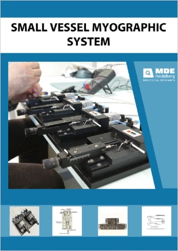 MDE GmbH - Small Vessel Wire Myograph Systems - Catalogue