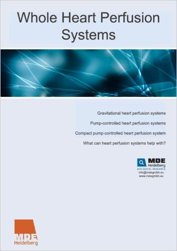 MDE GmbH - Whole Heart Perfusion Systems - Catalogue