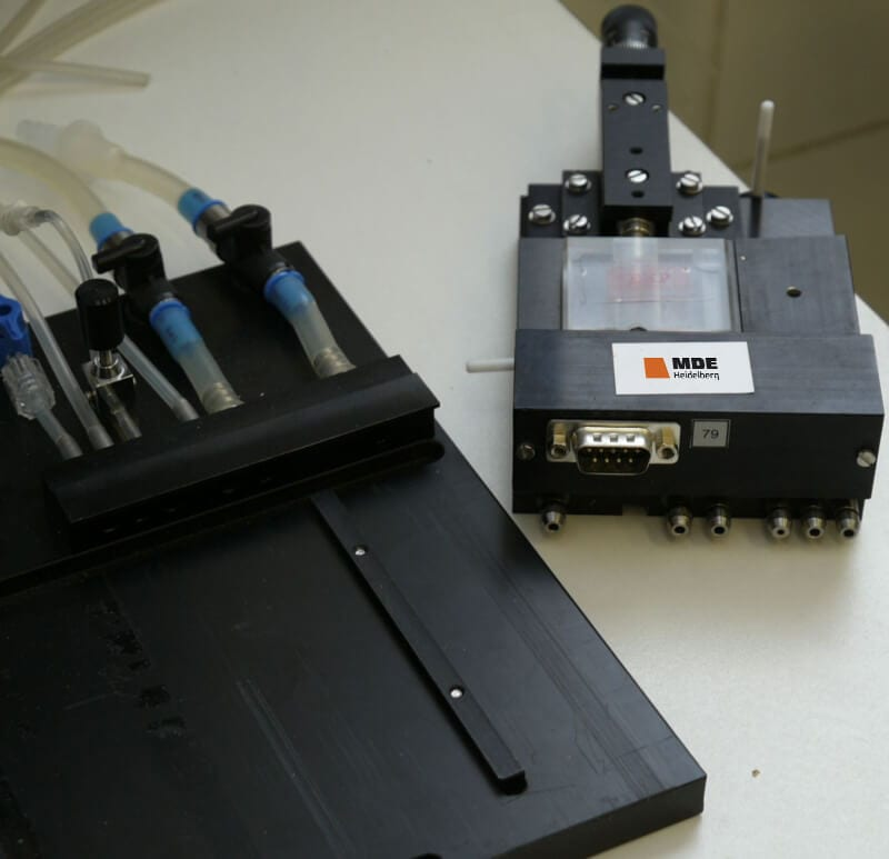 MDE GmbH - Small Vessel Wire Myograph Systems - Measuring Unit and Baseplate